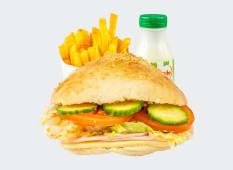 Sandwich cu sunca si cascaval meniu