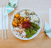 Sushi bowl & Sweet Potatotes