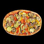 Vegan pizza cu legume și cașcaval vegan