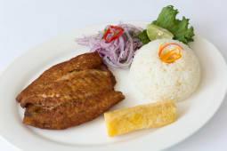 Filete de pescado frito