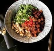 Soupe de vermicelles de riz avec lardons farcis façon Guizhou