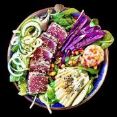 Full protein salad de tataki de atún