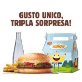 King junior chicken burger menù