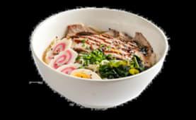 201. Udon en sopa de tempura de langostino