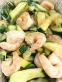 60.Gamberetti con zucchine
