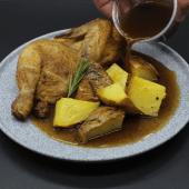 Pollo Asado (Medio) Con Patatas