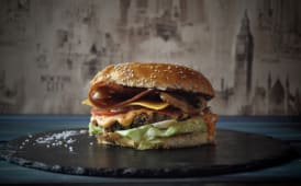 Meniu Bacon burger