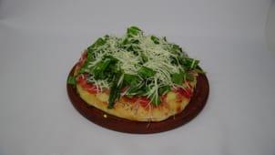 Pizzeta crudo y rúcula