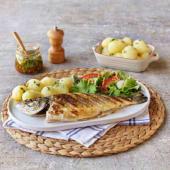 Robalo, Salada e Batata Cozida