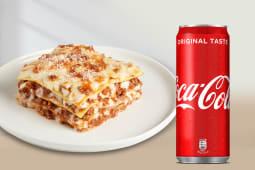 Lasagna + Fanta