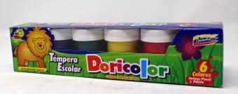 Tempera Escolar 022Grs Colores Paleta/Pincel Jgox6Un