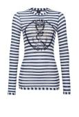 Fiorenzo maglia Jersey di cotone - bianco/blu/oro