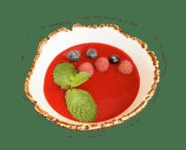 Панакота з малиновим соусом (120/50г)