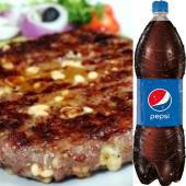 Velika juneća gurmanska pljeskavica (350gr) + Pepsi 1.5L
