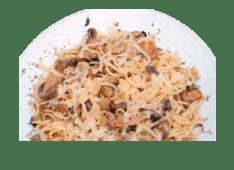 Esparguete ao Alho e Cogumelos