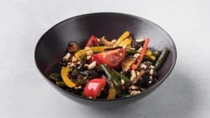 Салат со стручковой фасолью и грибами (острый) 280г.