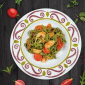 Tagliatelle de spanac cu legume