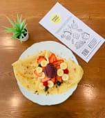 Crepe Açai, Granola, Frutos Vermelhos e Banana
