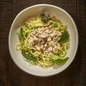 Espaguettis de Calabacín Carbonara