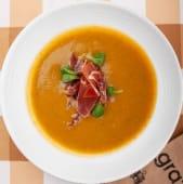 Овочевий суп-пюре з броколі та хамоном (350г)