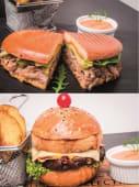 Oricare 2 burgeri (cu french fries si sos)