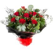 Seis rosas rojas