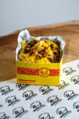 Batata com cheddar e bacon (P)