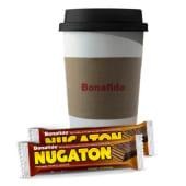 Café con leche grande + 2 Nugaton