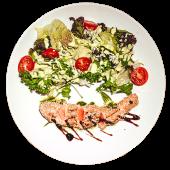 Салат З лососем в кунжуті (200г)