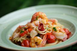 Spaghetti Aglio Olio e Gamberi