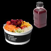 Menú diseña tu ensalada + zumo (500 ml.)