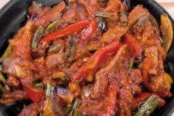 Гаряча пательня із яловичини з овочами (400г)