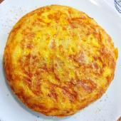 Tortilla De Patatas Con Picadillo Asturiano