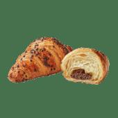 Croissant cu umplutură de cacao și alune de pădure