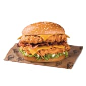 Double Burger Bacon BBQ Cheddar