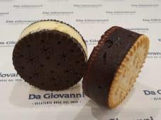 Biscotto gelato piccolo alla crema