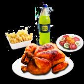Pollo entero + gaseosa (1.5 lt.)