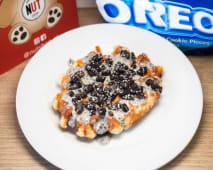 Waffles com Creme Oreo