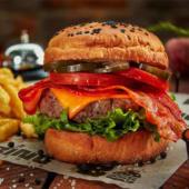Burger queso tocino