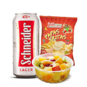 Combo Postre + Papas + Cerveza (500 ml.)
