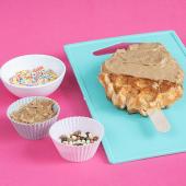 Waffle con crema de galleta Lotus