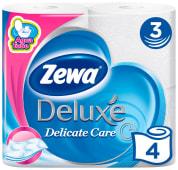 Папір туалетний Zewa Deluxe Pure білий 3 шари (4шт)