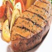 Pepper Fillet Steak served with rice, chips or salad
