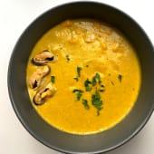 Суп кукурудзяний з мідіями (250г)