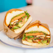 Sándwich super veggie