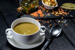 Крем-суп з сочевицею та горохом (250г)