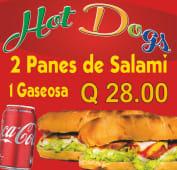 2 panes con salami + Coca-Cola (330 ml.)