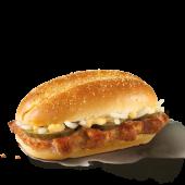 Sandviș cu porc și sos de hrean