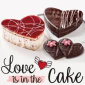 Tarta de chocolate San Valentín