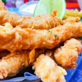 Caja de dedos de pescado